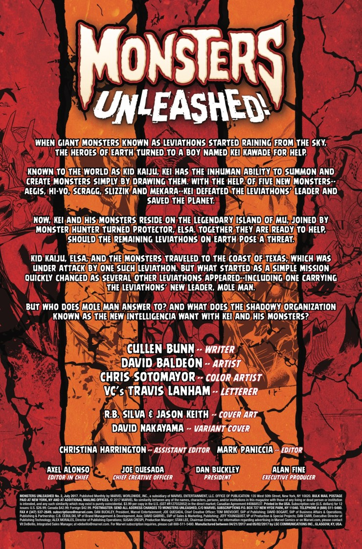Marvel Preview: Monsters Unleashed #2