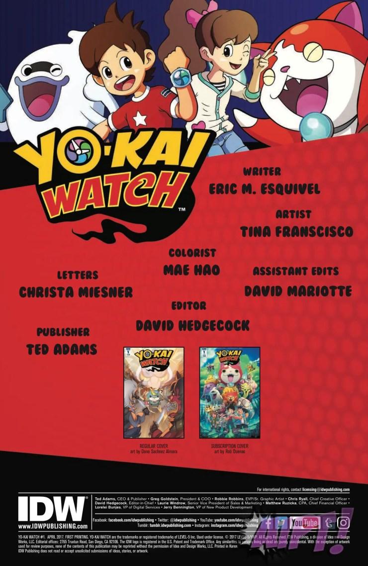[EXCLUSIVE] IDW Preview: Yo-Kai Watch #1