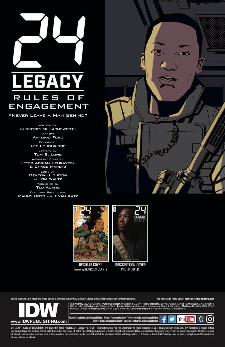 [EXCLUSIVE] IDW Preview: 24: Legacy—Rules of Engagement #2