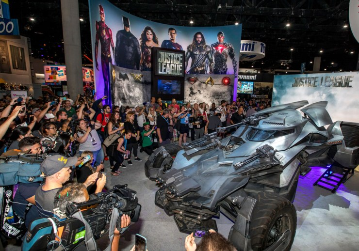 First public appearance of 'Justice League' Batmobile at SDCC 2017