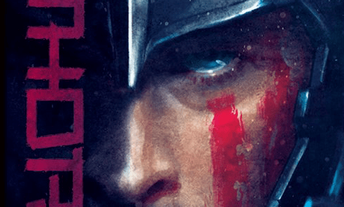 The posters feature stylized closeups of Thor and Hulk.