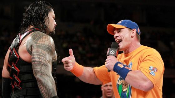 John Cena and Roman Reigns throw down in heated contract signing on Raw