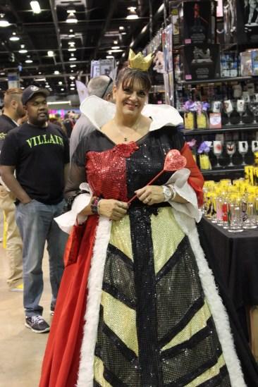 The Queen of Hearts strolling the floor.