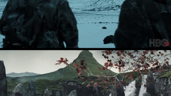 "There's something interesting about the mountain Jon Snow and company were seen approaching at the end of Game of Thrones S7E5, ""Eastwatch""."