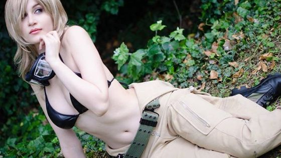 Italian cosplayer Meryl Sama as Russian spy Eva from 'Metal Gear Solid 3: Snake Eater', 'Metal Gear Solid 4: Guns of the Patriots', and 'Metal Gear Solid: Peacewalker'.
