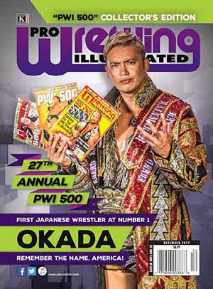 PWI's Top 500 2017 released: Okada, AJ Styles and Kevin Owens top the list