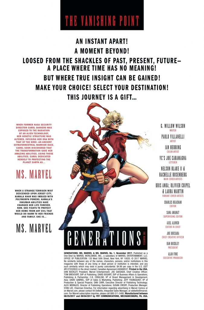 Marvel Preview: Generations: Captain Marvel & Ms. Marvel #1