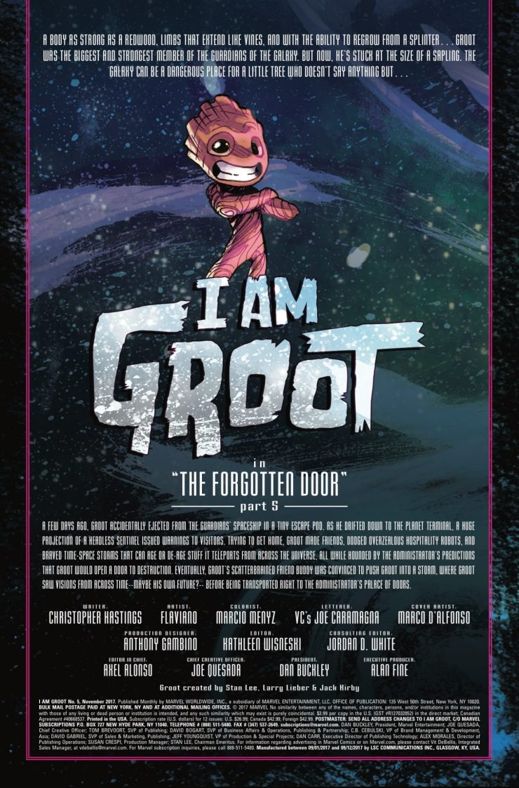 Groot is nearly home, but the interstellar door is blocked by an ancient unspeakable horror.