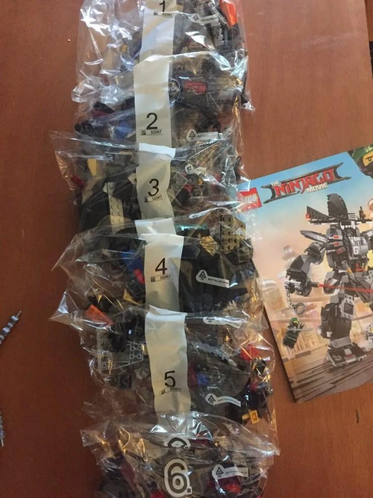 LEGO Ninjago Garma Mecha Man: Unboxing and build part 1