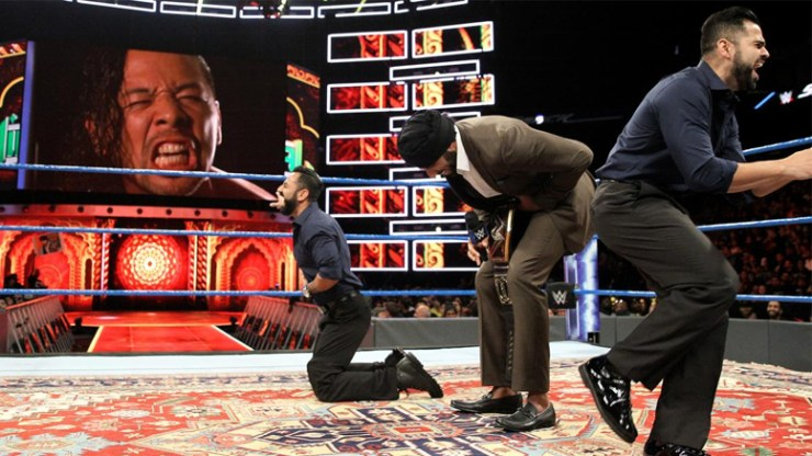"""WWE issues statement on racist Jinder Mahal promo that caused fans to chant """"that's too far"""""""