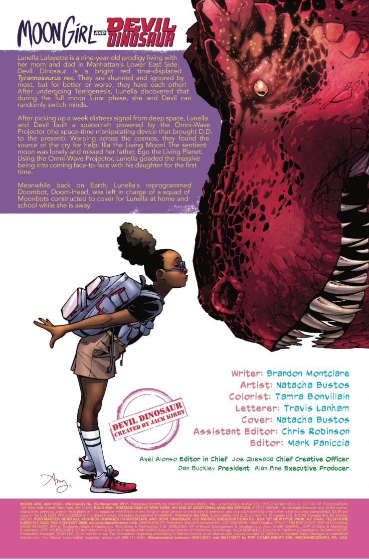 Marvel Preview: Moon Girl and Devil Dinosaur #23
