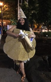 Moana in her distraction costume for Shiny