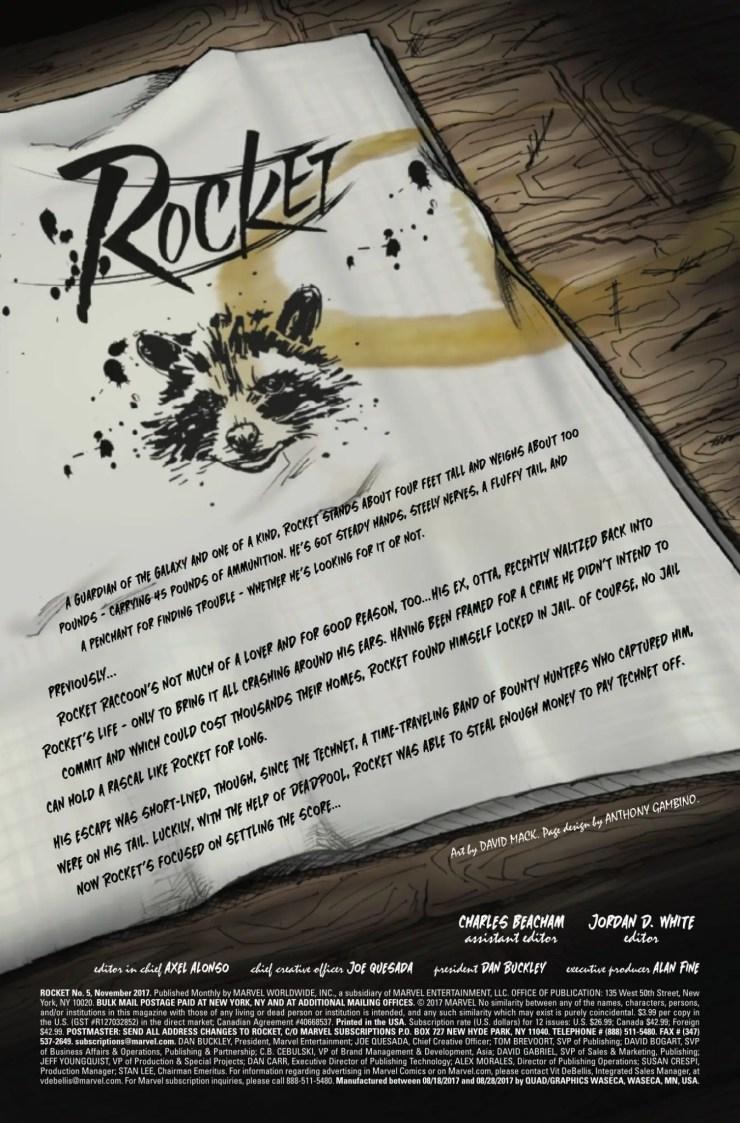 Marvel Preview: Rocket #5