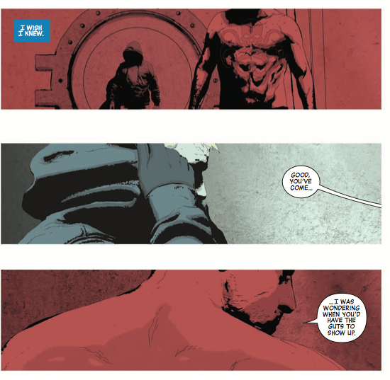 This epilogue issue pits good-guy Captain America up against Hydra Captain America in a war of words.