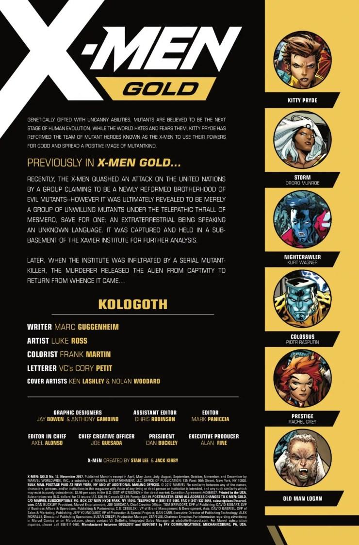 Marvel Preview: X-Men: Gold #12