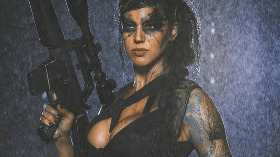 Finally, a cosplayer with trigger discipline.  Behold: Alex Zedra as Quiet from Metal Gear Solid V.