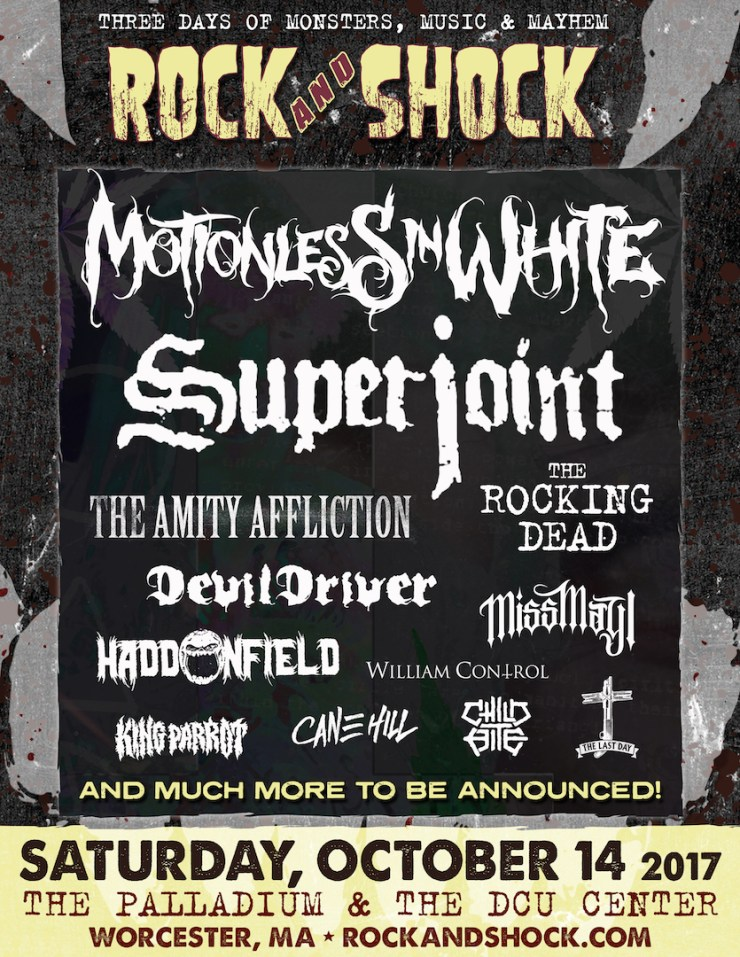 Horror and rock music to converge at Rock and Shock 2017