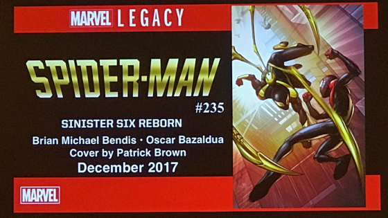 "A new Sinister Six will be unveiled in December, and other notes from the 'Marvel Legacy: Spider-Man and His Amazing Friends"" panel at NYCC"