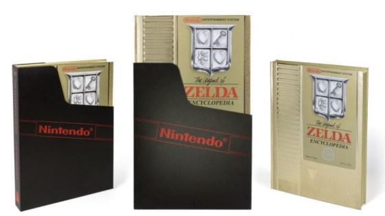 The Legend of Zelda Encyclopedia Deluxe Edition looks like a giant golden NES cartridge