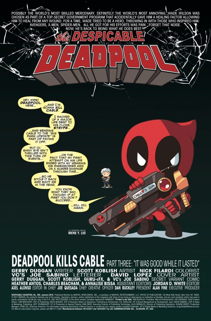 Marvel Preview: Despicable Deadpool #289