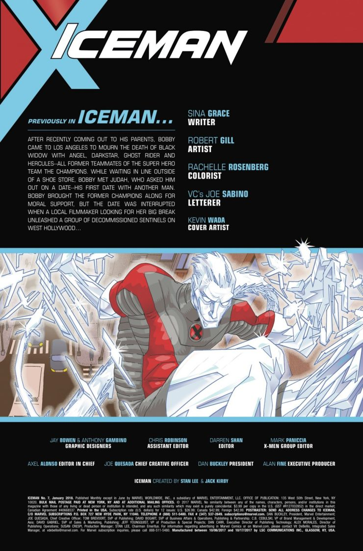 Marvel Preview: Iceman #7