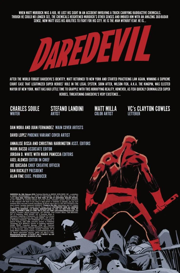 Marvel Preview: Daredevil #596