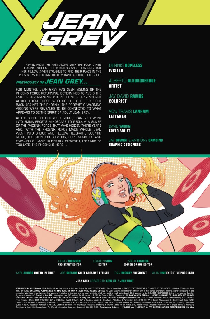 Marvel Preview: Jean Grey #10