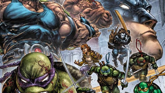 Bane's takeover continues as Batman and the Turtles team up.
