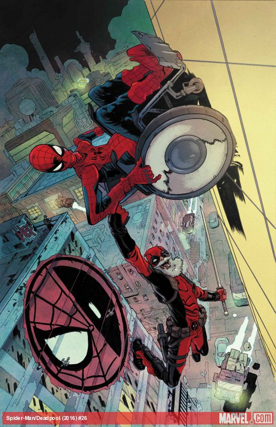 Old Man Pete and Old Man Wade: Spider-Man/Deadpool #26, 'Future Shock' sends the two friends far into the future