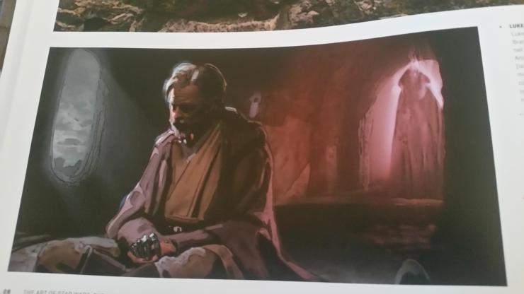 Star Wars: 'Art of the Last Jedi' concept piece sees Luke visited by a Sith Force ghost