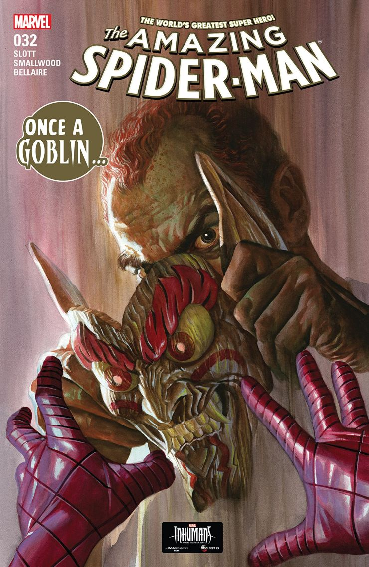 Does an Amazon solicit spoil the Red Goblin's identity?
