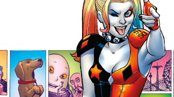 Harley smashes up creators Jimmy Palmiotti and Amanda Conner in 'Harley Quinn' #34