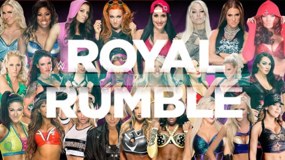 Who will be in the first ever women's Royal Rumble?