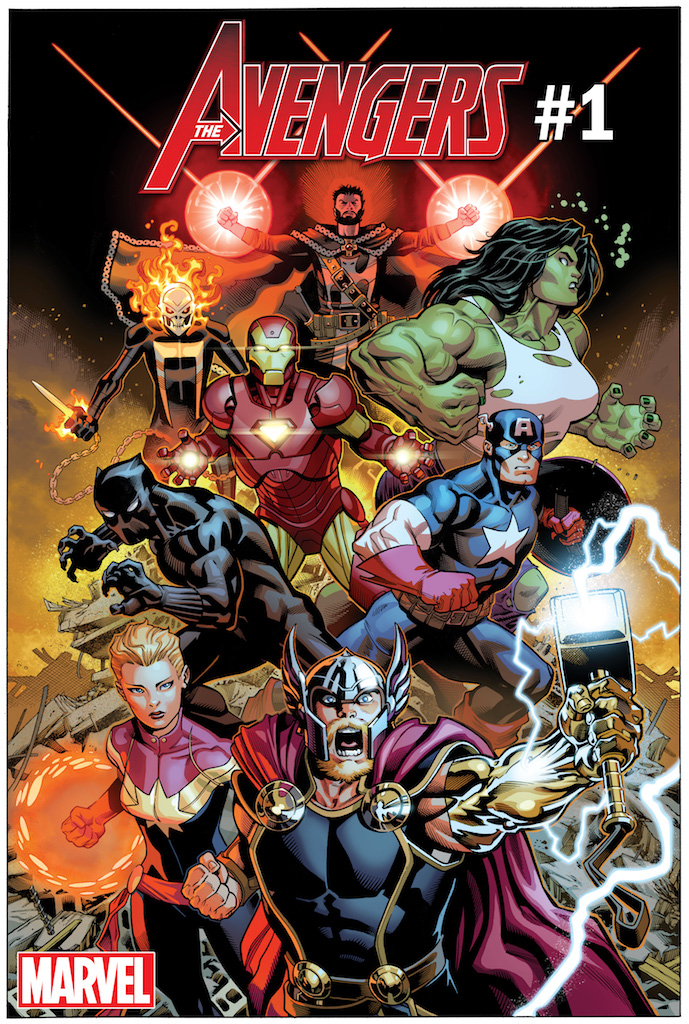 Avengers #1 blasts off in May with Jason Aaron and Ed McGuinness on board