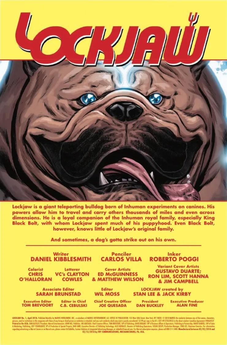 Marvel Preview: Lockjaw #1