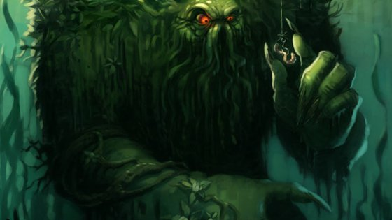 The art for Hearthstone's Fen Creeper depicts the moments just before inevitable, gruesome tragedy.  Or does it?