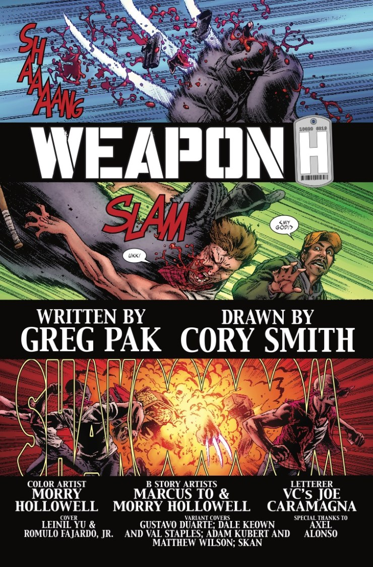 Marvel Preview: Weapon H #1