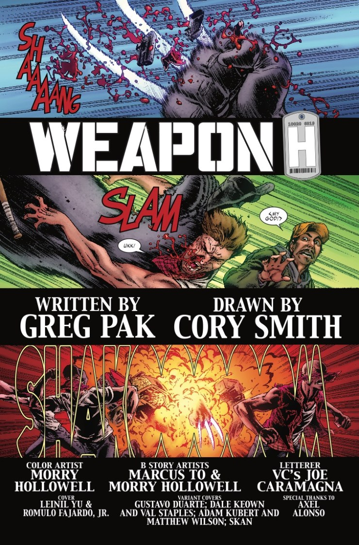 Weapon H #1 Review