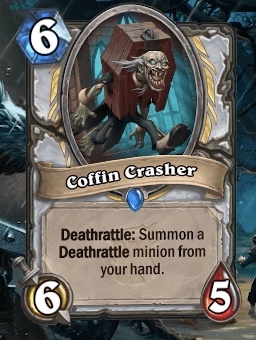 Hearthstone: The Witchwood: New Rare Priest card revealed, Coffin Crasher
