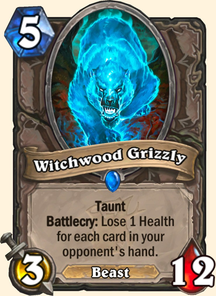 Hearthstone: The Witchwood: Witching Hour and Witchwood Grizzly cards revealed