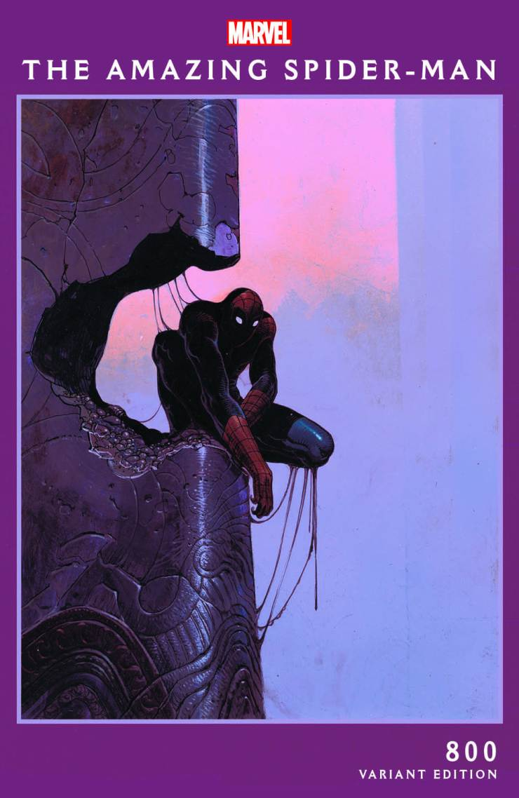 Marvel celebrates Amazing Spider-Man #800 with two Moebius variant covers