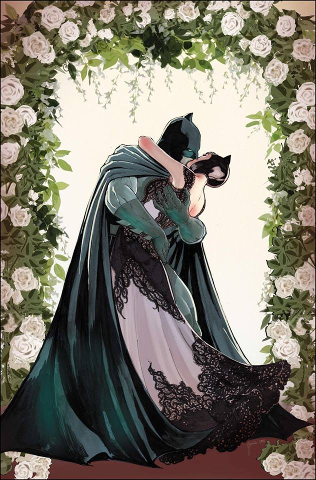 Cover to Batman #50, Bat and Cat's wedding revealed