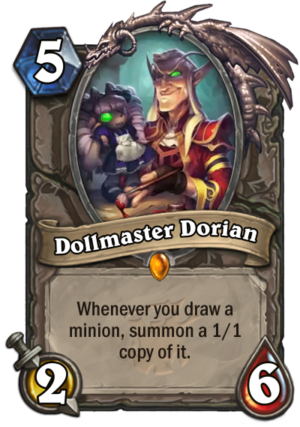 Hearthstone: The Witchwood: New Legendary minion card revealed, Dollmaster Dorian