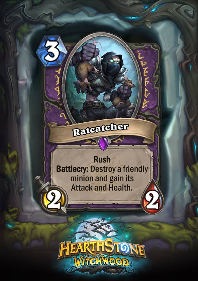 Hearthstone: The Witchwood: New Epic Warlock card revealed, Ratcatcher