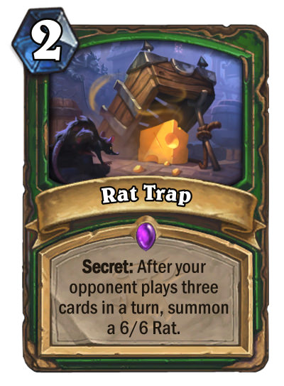 Hearthstone: The Witchwood: New Hunter epic card revealed, Rat Trap