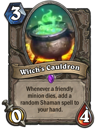 Hearthstone: The Witchwood: New neutral epic spell revealed, Witch's Cauldron
