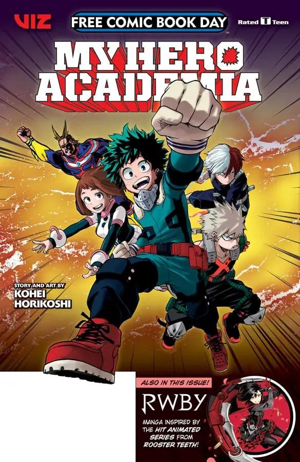 Viz Media announces Free Comic Book Day 2018 manga samplers