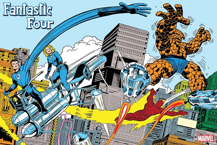 Celebrate the Fantastic Four in style with this Jack Kirby poster
