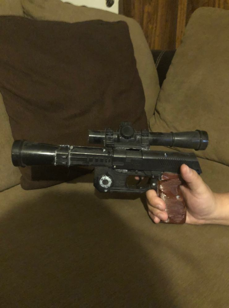 The time I got Han Solo's blaster for my birthday