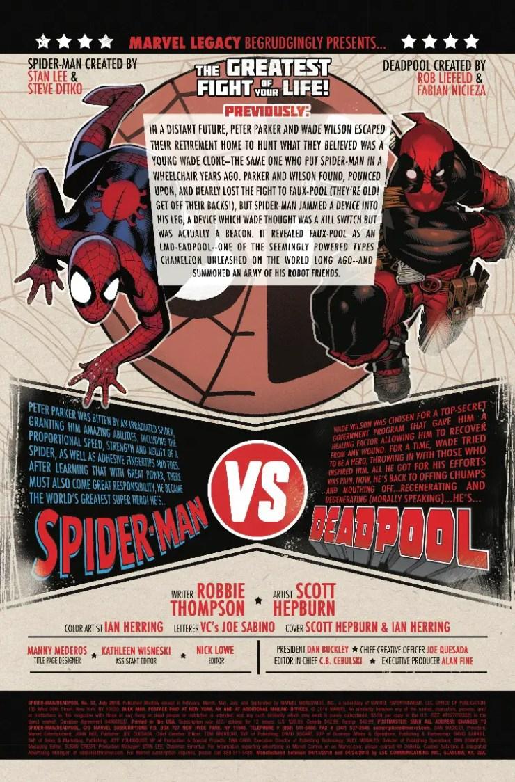 Marvel Preview: Spider-Man/Deadpool #32